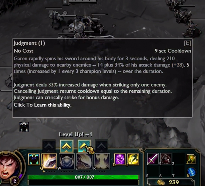 Leveling a Champion Ability