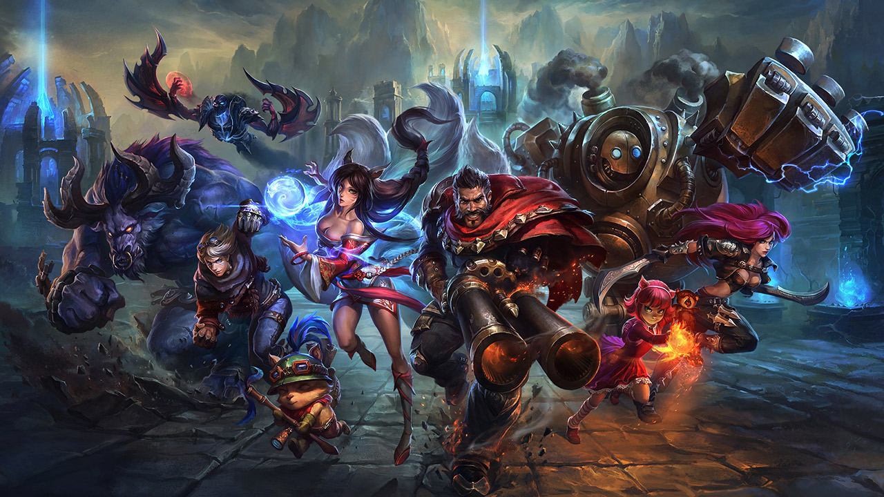Group of League of Legends Champions looking menacing.