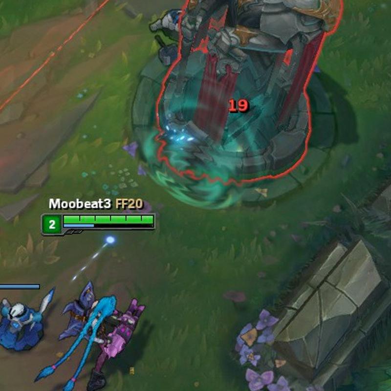Jinx destroys a Turret