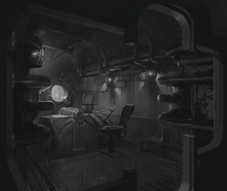 Riot's Original Concept Art for the Gondola's Interior