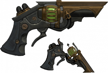 Riot's Concept Art of Fleg's Long-Lost Pistol (RIP)