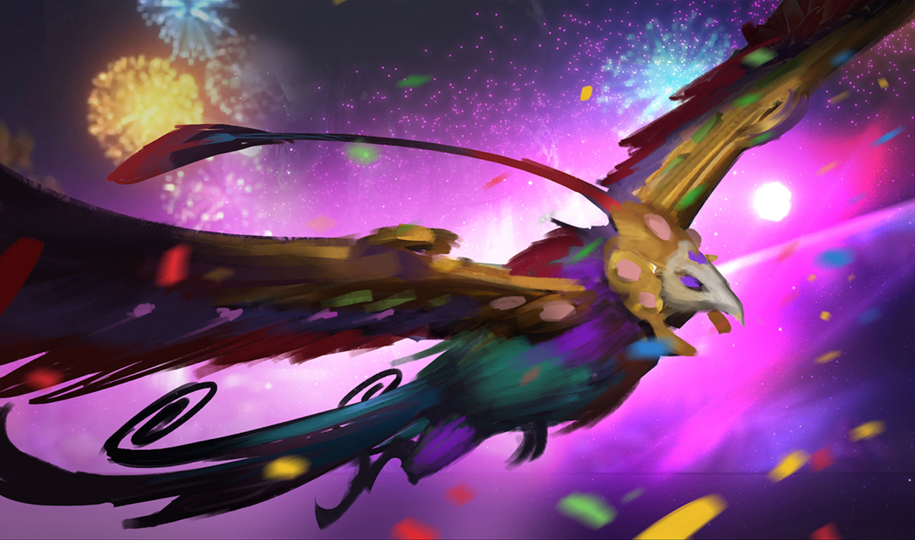 Ideation for Festival Queen Anivia's Splash Art