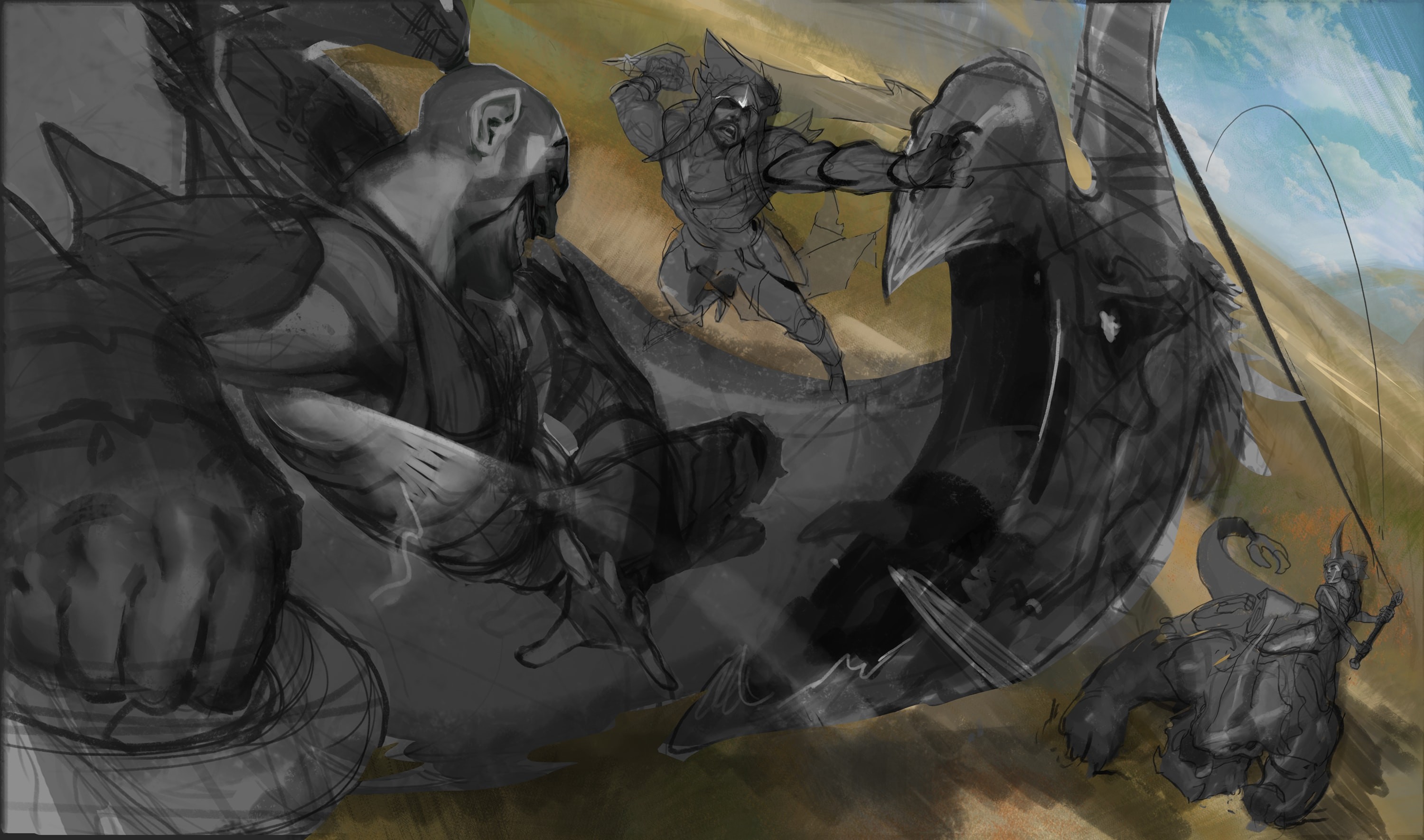 Beast Slayer Splash Art: WIP