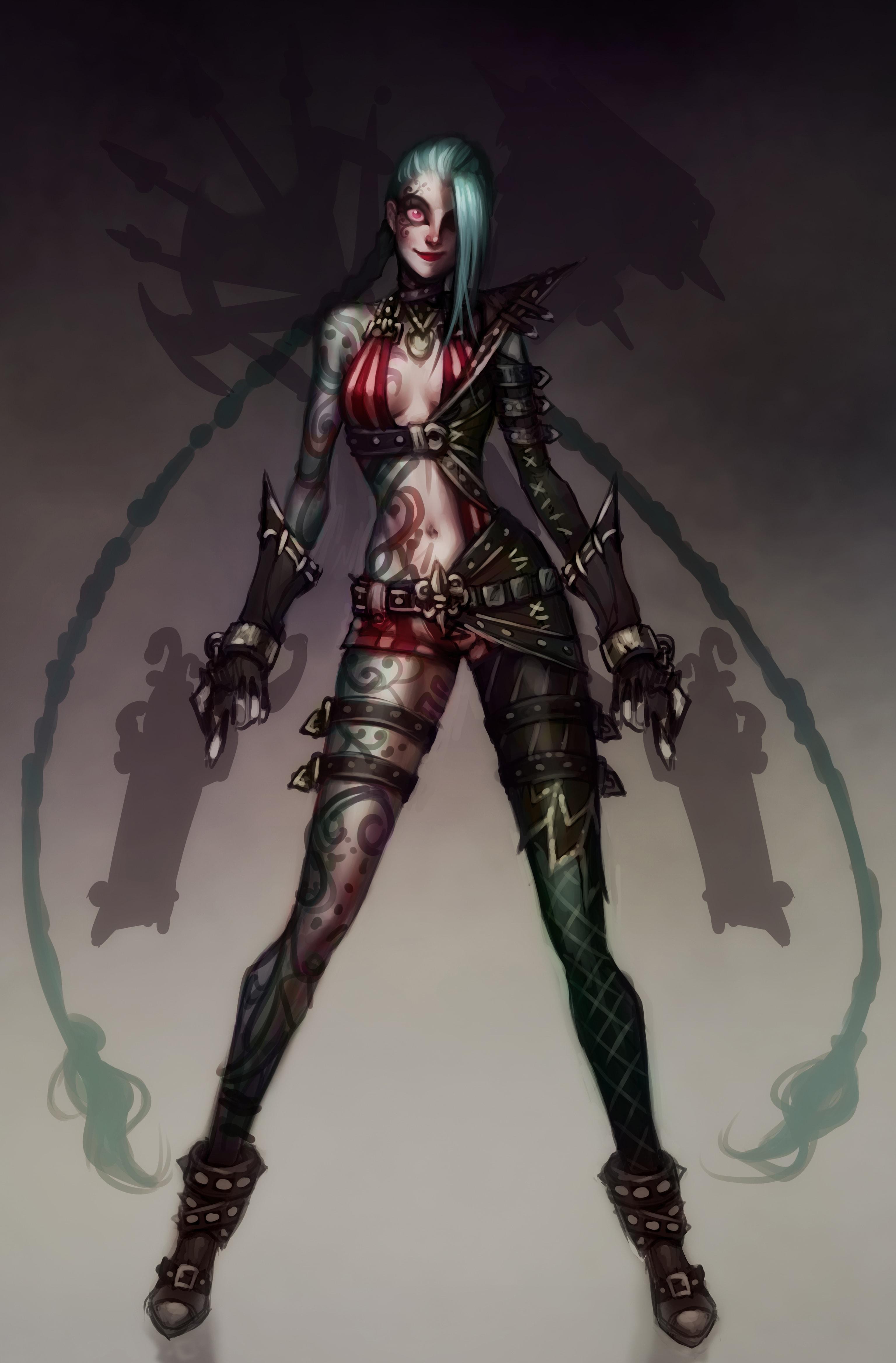 Concept Art for Psycho Arsenal (Jinx)