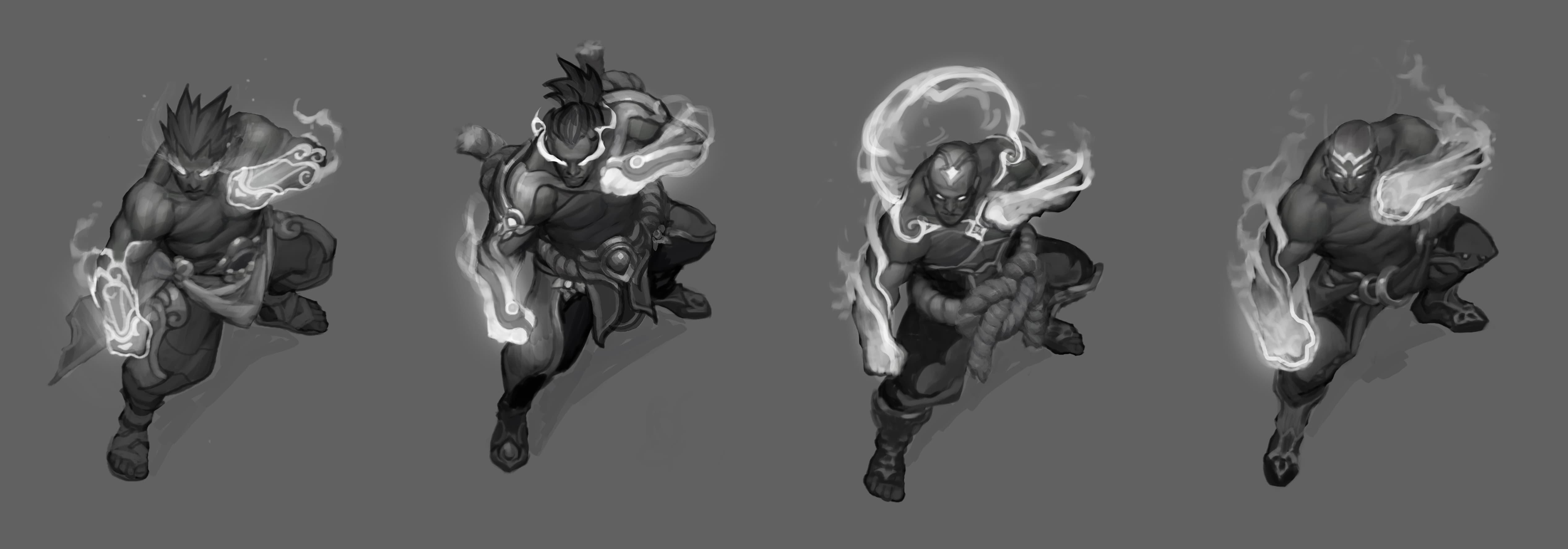 God Fist Lee Sin Concept Art