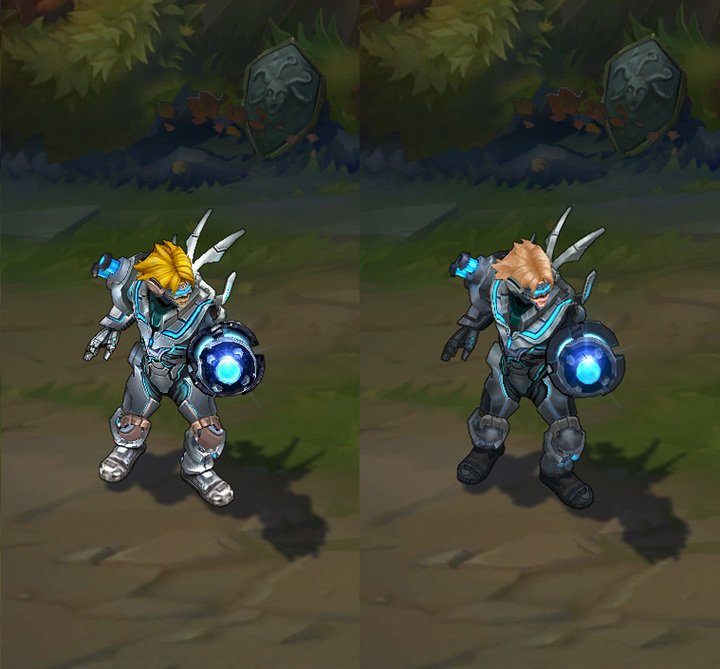 Pulsefire Ezreal Pre- and Post-Update