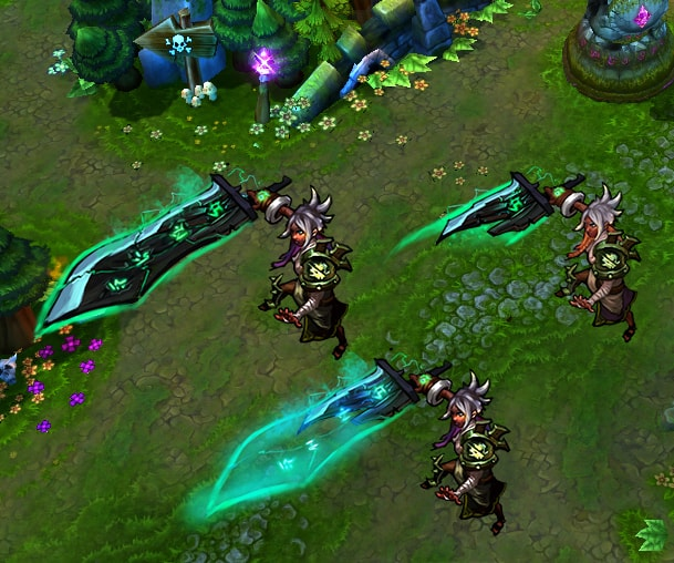 In-game mock-up of Riven's sword during her ultimate.