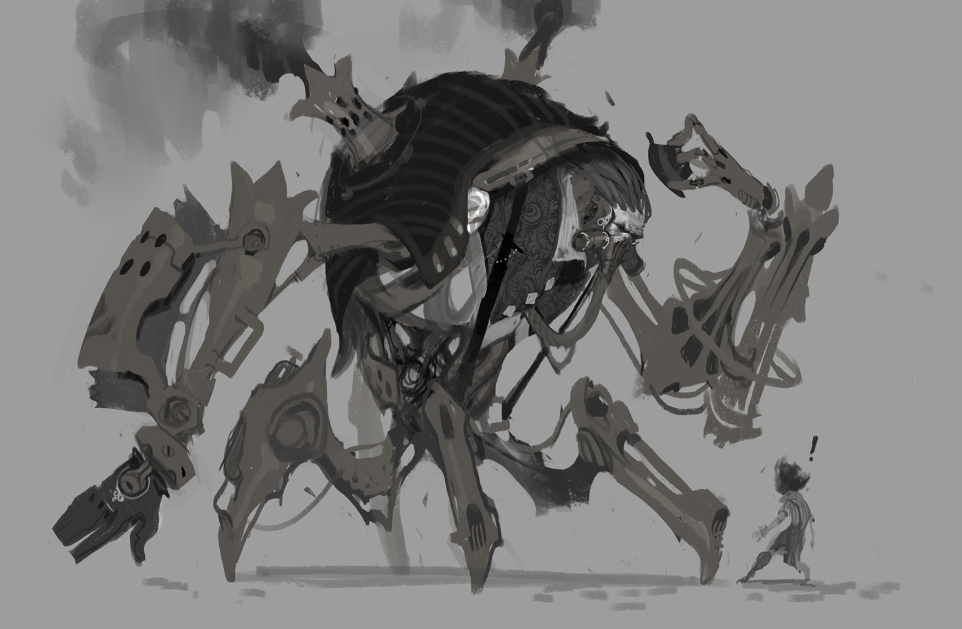 Urgot's dapper jackets in early concept art helped devs think of him as more than just a monster.