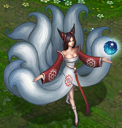 In-game Mockup of Ahri's Dress-Tails