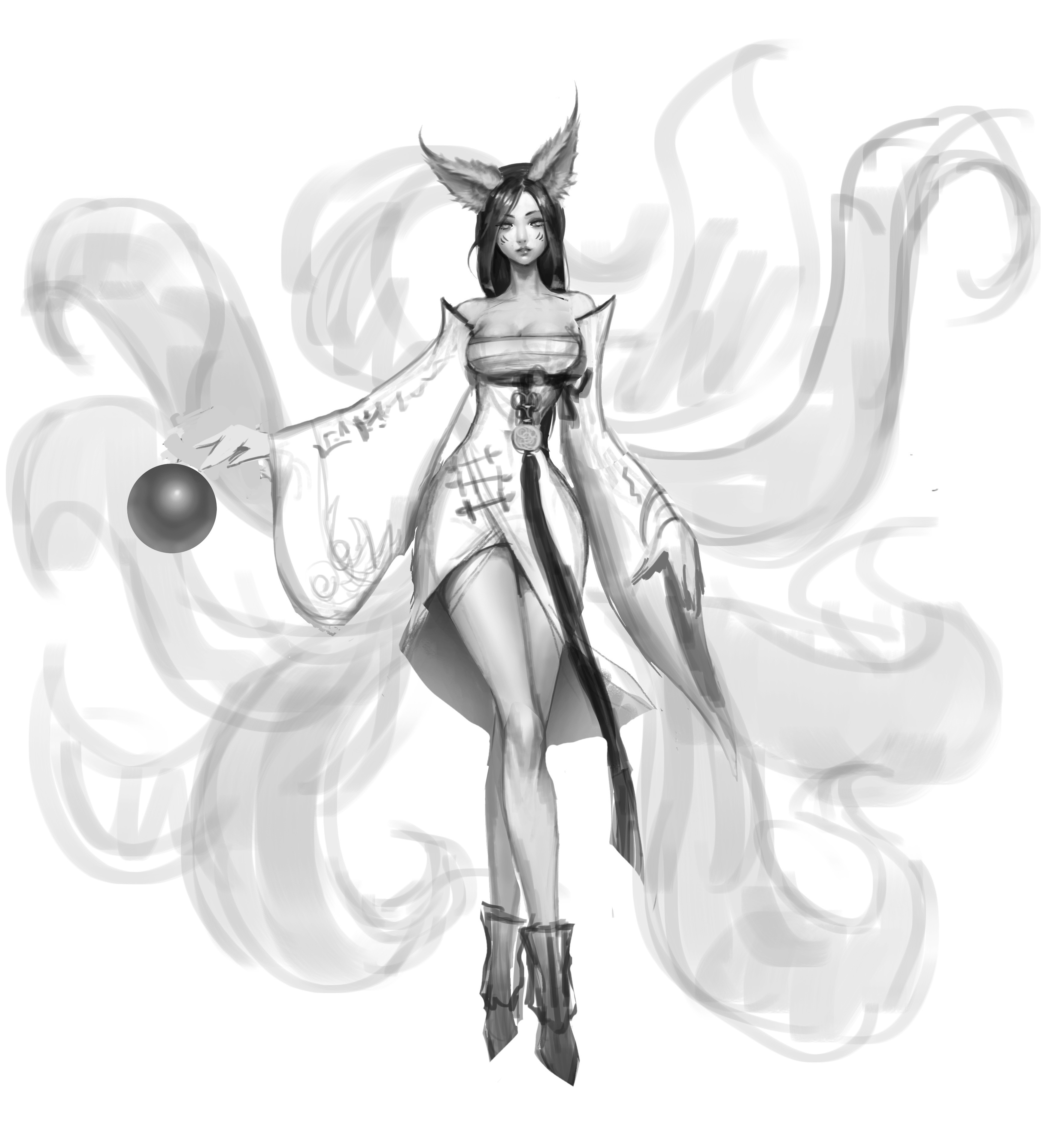 Ahri's Original Concept Art