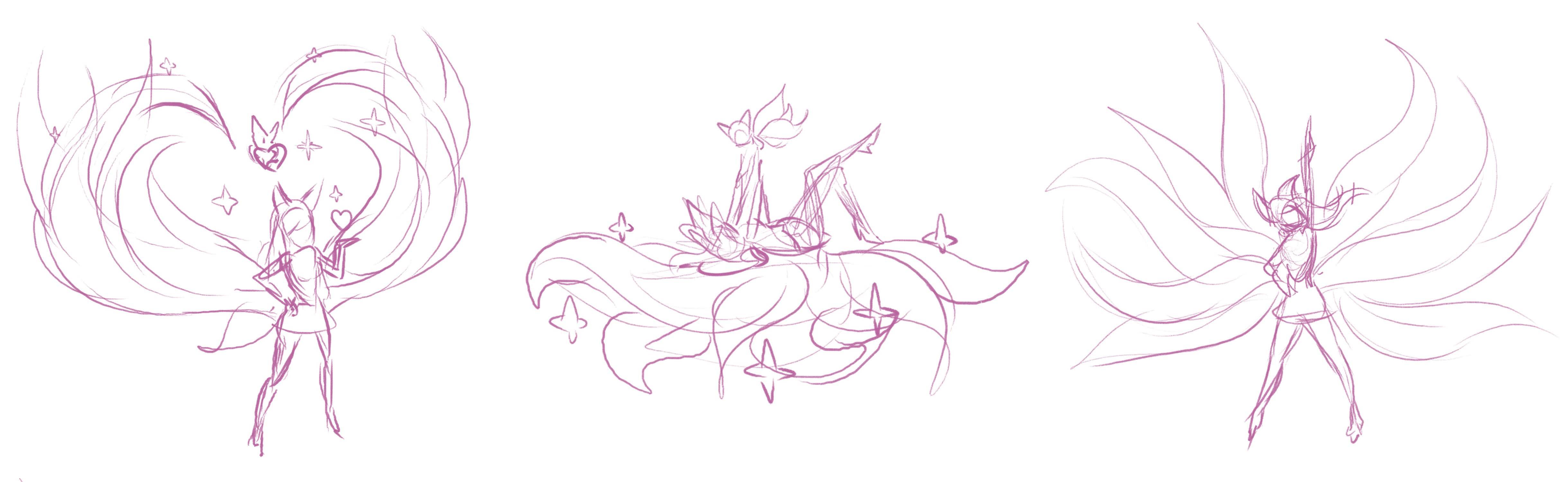 Ahri's Tails, Animation Study