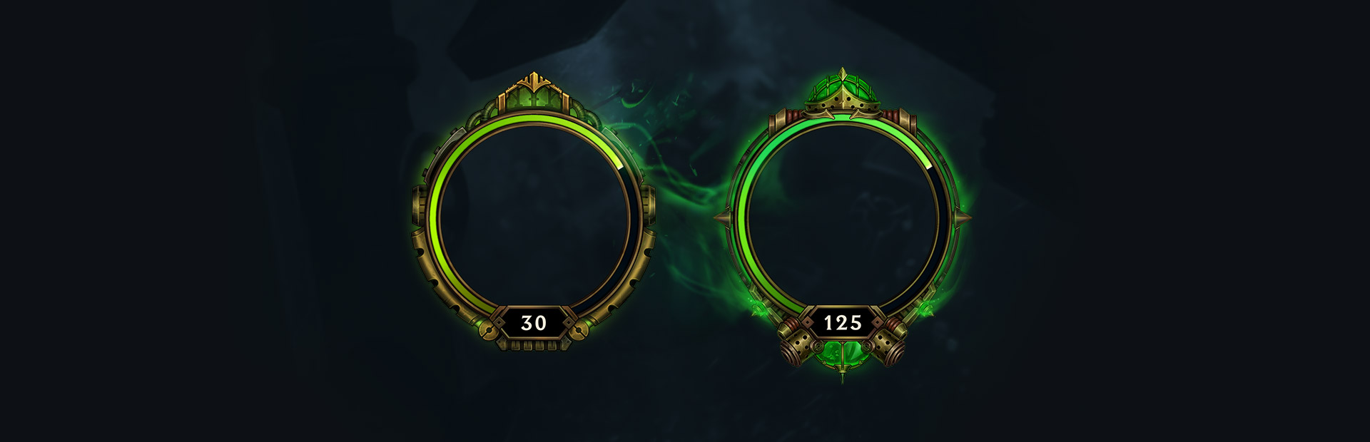 Visual difference between the first green tier (level 30) and the second (level 125)
