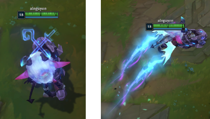 Smol black wings on model vs. bigger blue wings during Rocket Jump (W)