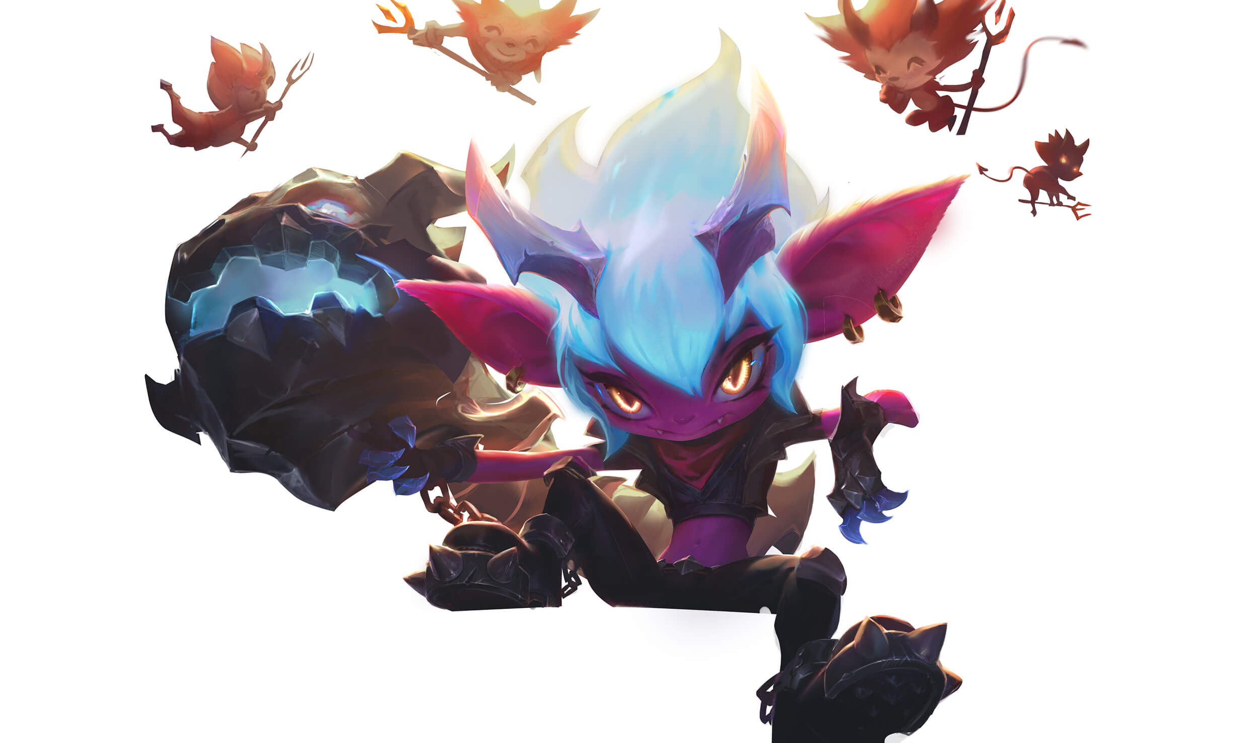 Masked Tristana With Background Layer Turned Off