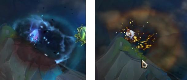 Mały Demon Tristana w porównaniu z Tristaną podstawową