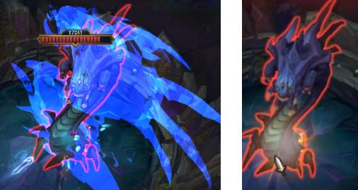 Po lewej Mały Demon Tristana, po prawej klasyczna Trist