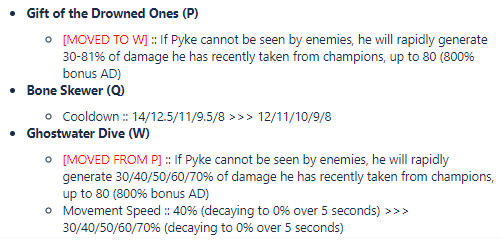 First version of the 9.13 Pyke changes