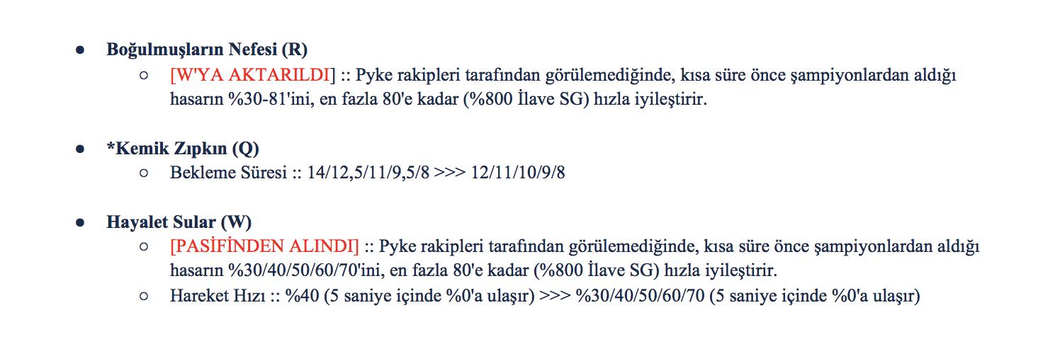 9.13'teki Pyke değişikliklerinin ilk versiyonu.