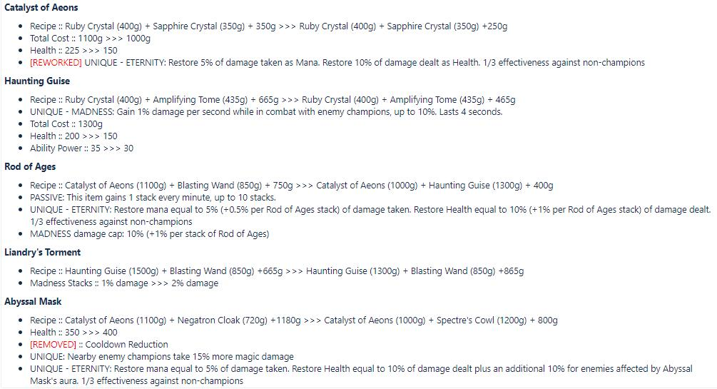 First version of the Rod of Ages and AP item changes.